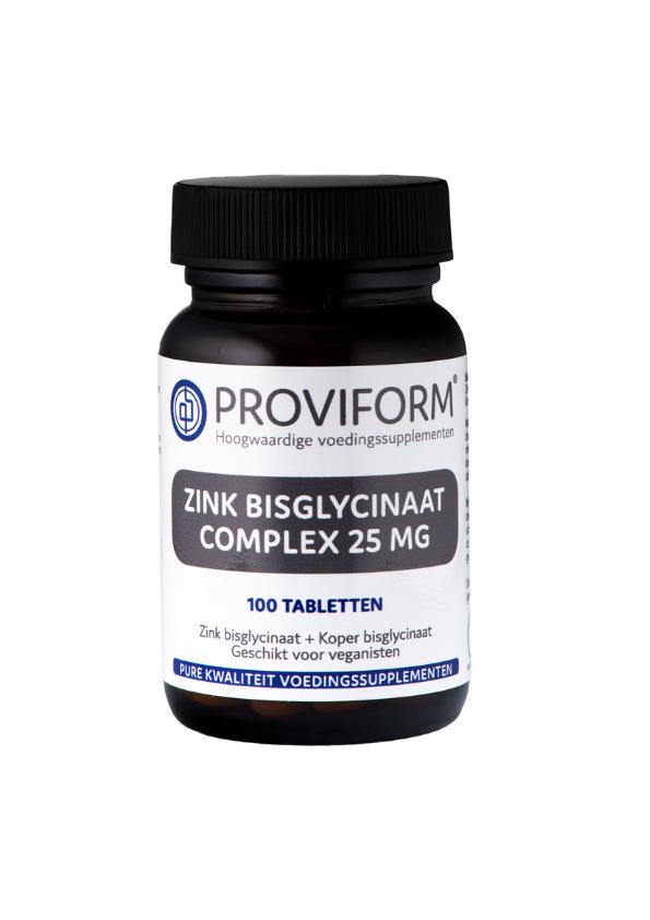 Organiskais cinks - bisglicināts 25 mg, 100 tabletes