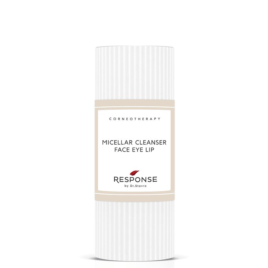 Maigs micerālais ūdens visiem ādas tipiem sejas lūpu un acu zonas attīrīšanai RESPONSE by Dr. Stavro Micellar Cleanser Face Eye Lip, 125 ml