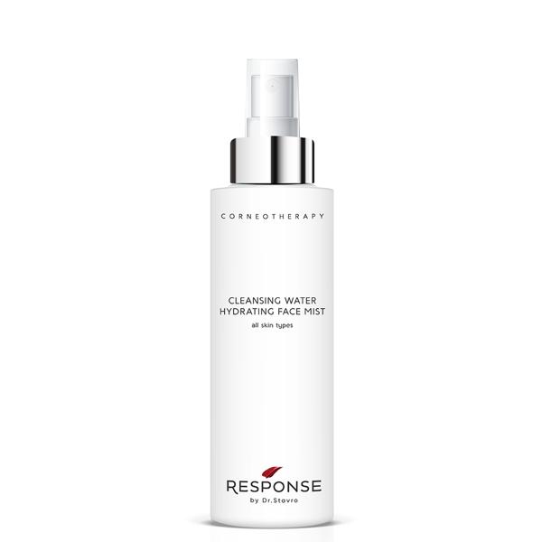 Attīrošs un mitrinošs sejas sprejs visiem ādas tipiem RESPONSE by Dr. Stavro Cleansing Water Hydrating Face Mist, 200 ml
