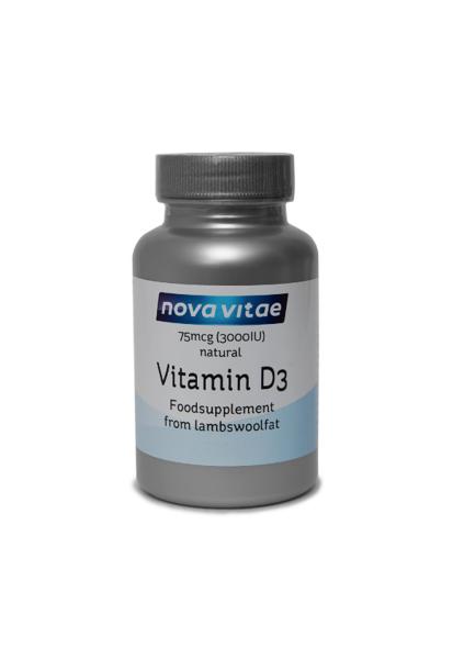 Dabīgais D3 vitamīns 75mcg (3000IU/1 kapsulā)